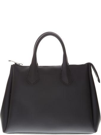 Gianni Chiarini Black Gum Bag With Double Shoulder Strap