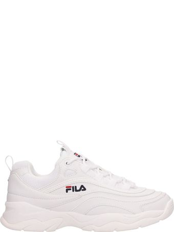 Fila White Leather Ray Low Sneakers