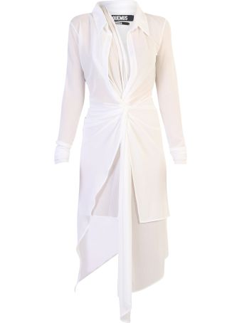 Jacquemus La Robe Bellagio Crepe Dress
