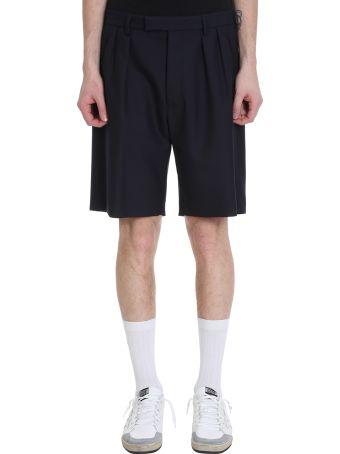 Golden Goose Blue Wool Shorts