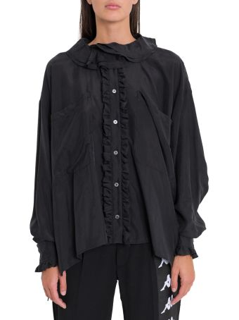 Faith Connexion Frll Silk Shirt