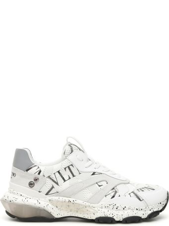 Valentino Vltn Bounce Sneakers With Feathers