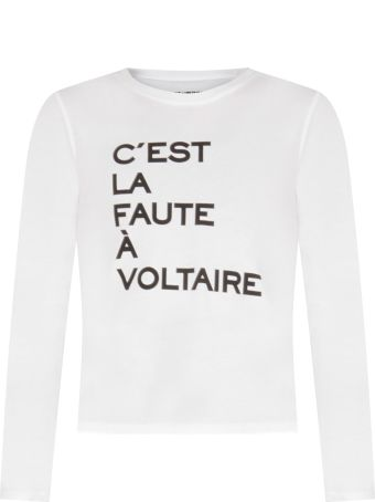 Zadig & Voltaire White T-shirt For Kids With Writing