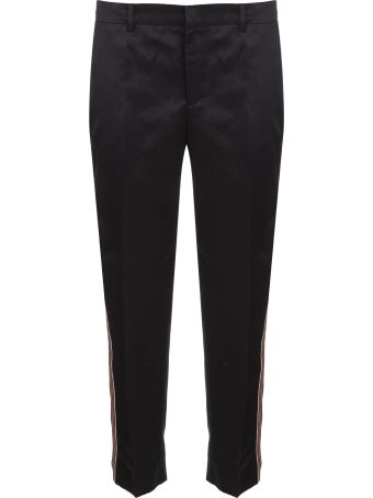 PT01 Satin Tape Cropped Trousers