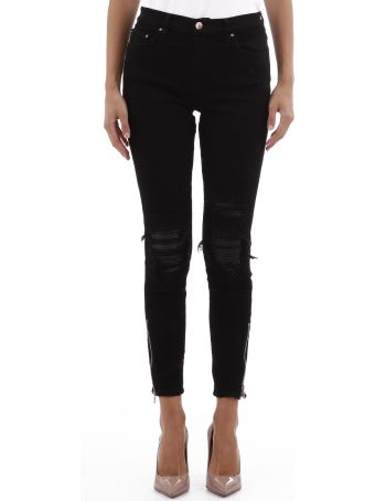 AMIRI Black Jeans With Leather Patch