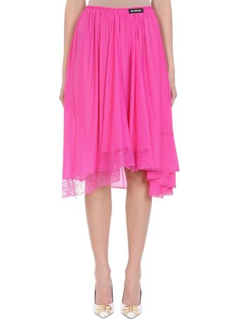 Balenciaga Pink Lace And Tulle Skirt