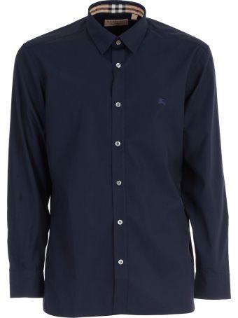 Burberry Check Cuff Stretch Poplin Shirt