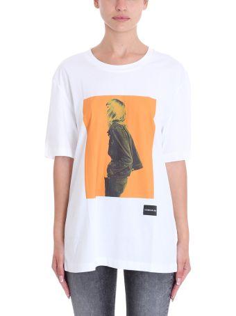 Calvin Klein Jeans White Cotton T-shirt