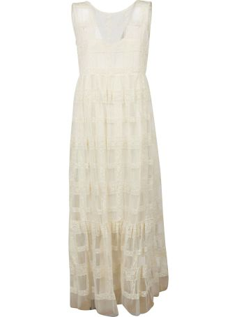 Ermanno Scervino Sheer Perforated Dress