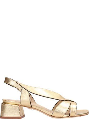 Lola Cruz Gold Patent Leather Sandals