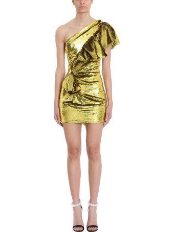 Alexandre Vauthier Lemon Sequins One Shoulder Dress
