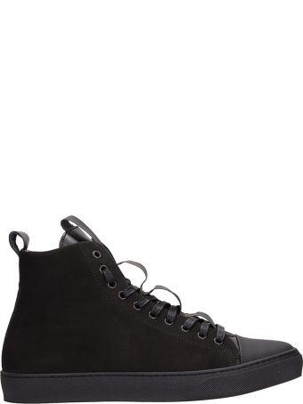Ylati Footwear High Black Suede Sneakers