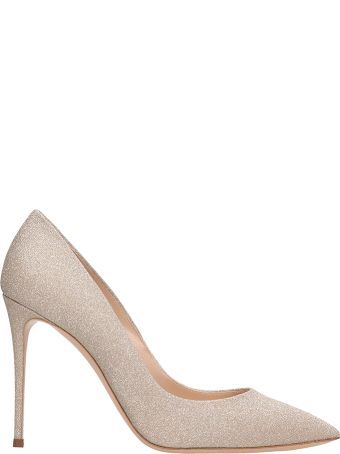 Casadei Decollete Gold Glitter