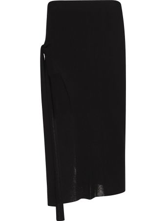 Jacquemus Side-tie Knitted Midi Skirt