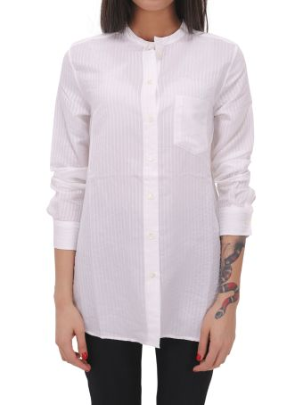 A.P.C. White Striped Shirt
