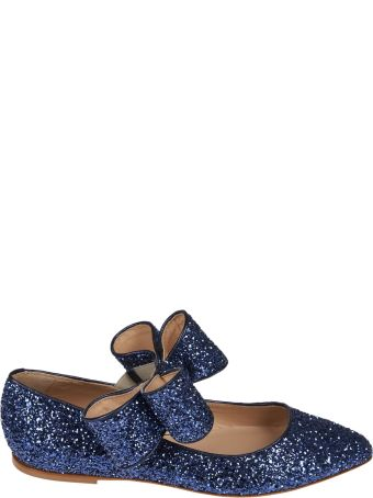 Polly Plume Glittered Bow Ballerinas