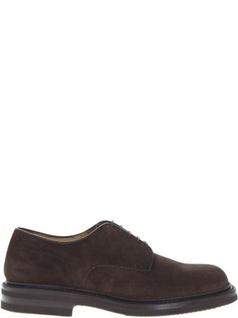 Green George Dark Brown Suede Lace Up Shoes