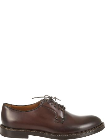 Doucal's Crimp Smooth Derby Shoes