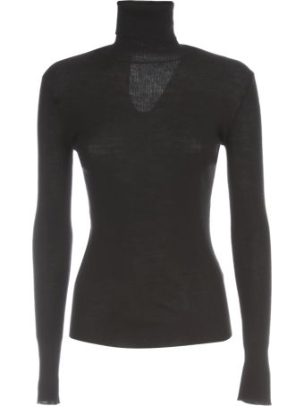 Nuur High Neck 100% Merino Wool Ribbed Sweater
