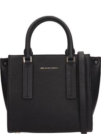 Michael Kors Black Leather Alessa Bag