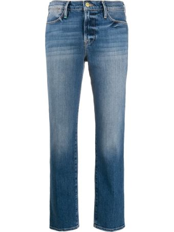 Frame High Straight Jeans
