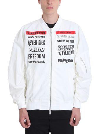 Damir Doma Jerit White Cotton Bomber Jacket