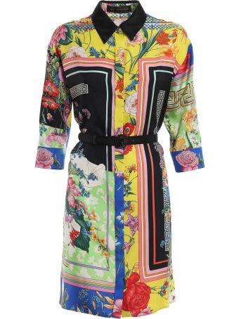 Versace Floral Shirt Dress