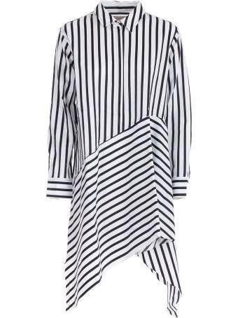 Marques'Almeida Dress Asymmettric Striped
