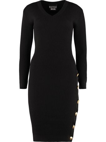 Boutique Moschino Knitted Sheath Dress