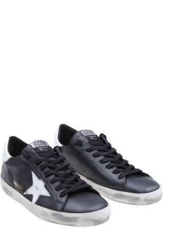 Golden Goose Superstar Sneakers In Black Leather