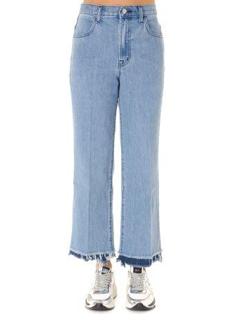 J Brand Cropped Jeans In Light Blue Denim