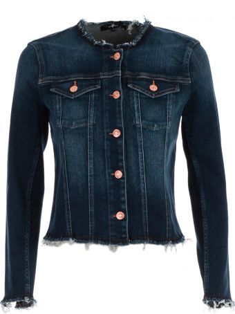 7 For All Mankind Seven For All Mankind Frayed Denim Jacket