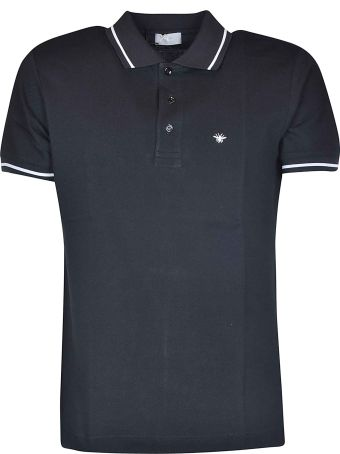 Christian Dior Striped Trim Polo Shirt