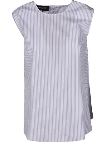 Rochas Striped Bow Top
