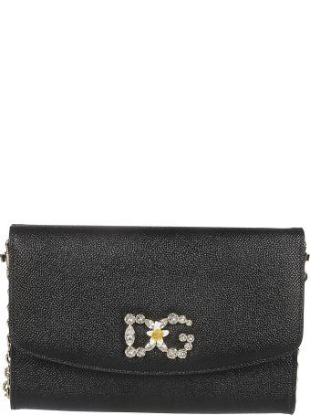 Dolce & Gabbana Embellished Dg Logo Clutch