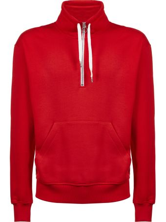 Ami Alexandre Mattiussi Paris Patched Zipped Sweatshirt