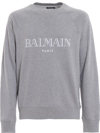 Balmain Balmain Logo Print Melange Sweatshirt Rh11679i0529aa