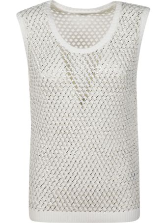 Ermanno Scervino Perforated Tank Top