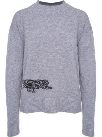 Krizia Panther-intarsia Wool Jumper