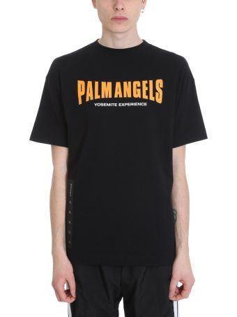 Palm Angels Vintage Logo Black Cotton T-shirt