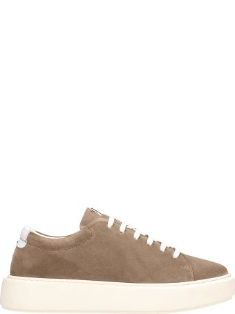 Low Brand Taupe Leather Sneakers