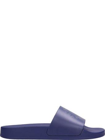 Stella McCartney Blue Rubber Slides