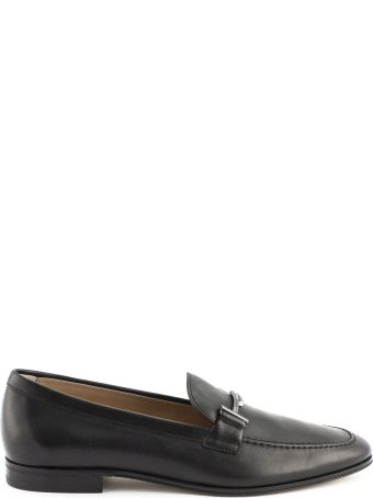 Tod's Loafers In Black Leather