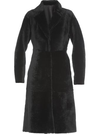 DROMe Leather And Fur Coat