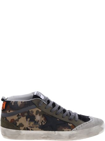 Golden Goose Mid-star Camouflage Sneakers