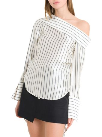 MONSE Striped Off-the-shoulders Blouse