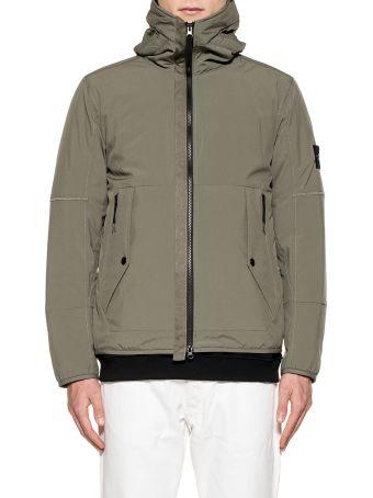 Stone Island Olive Green Hooded Soft Shell Hooded Jacket
