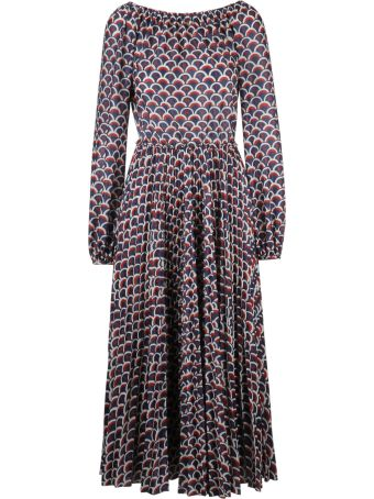 Valentino Scalloped Pattern Print Dress
