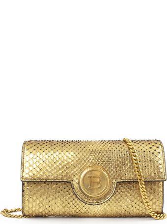 Balmain Gold Calfskin Baguette Bag