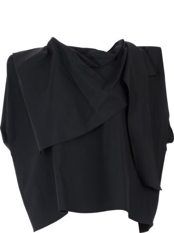 Lemaire Top Wout/s Bicolor Neck W/foulard